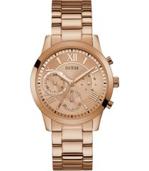 guess rose gold-tone stainless steel bracelet watch 40mm