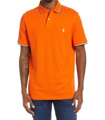 polo ralph lauren men's cotton polo shirt, size small in sailing orange at nordstrom
