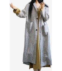 cappotto di lino in cotone tinta unita