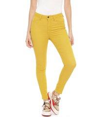 jeans jacqueline de yong mostaza - calce skinny