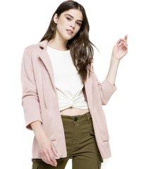 tejido chaqueta palo rosa five