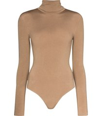 wolford colorado turtleneck thong bodysuit - neutrals