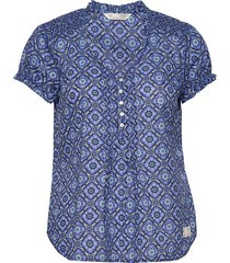 perfect print blouse blouses short-sleeved blauw odd molly