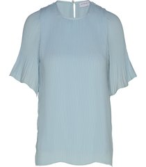 miami tee-shirt blouses short-sleeved blauw cathrine hammel