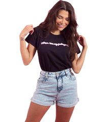 blusa in love t-shirt alexa preta
