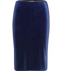 naurapw sk knälång kjol blå part two