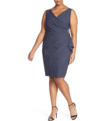 plus size women's alex evenings embellished surplice sheath dress
