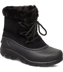 snow angel lace shoes boots ankle boots ankle boots flat heel svart sorel