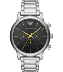 emporio armani men's chronograph stainless steel bracelet watch 46mm