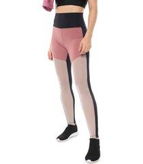 legging hope recortes preta/rosa