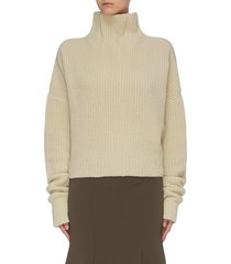 chunky cashmere knit turtleneck sweater