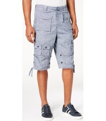 "sean john men's big & tall 15"" classic flight cargo shorts"