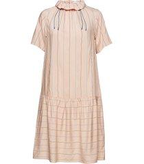 delphine dress jurk knielengte roze wood wood