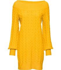 maglione lungo con spalle scoperte (giallo) - bodyflirt