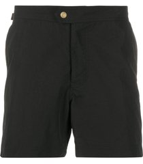 tom ford straight-leg swim shorts - black