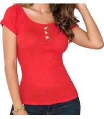 blusa belinda rojo para mujer croydon