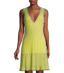 m missoni women's metallic striped knit dress - navy - size 44 (8)