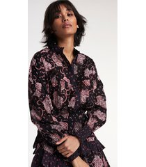 alix the label 2108955091 woven flower paisley oversized blouse