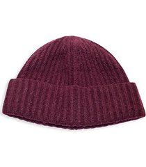 chunky ribbed cashmere beanie