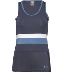 caro top t-shirts & tops sleeveless blå kari traa