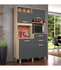 armário de cozinha cedro/grafite nesher jr