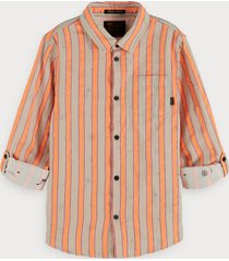 scotch & soda bright striped shirt regular fit