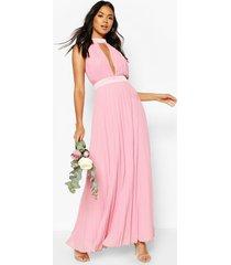 bridesmaid occasion cross back midi dress, dusky pink