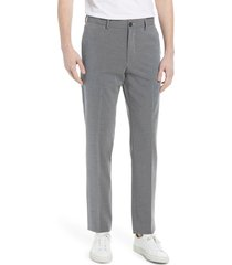 men's nordstrom tech-smart trim fit stretch dress pants, size 38 - grey