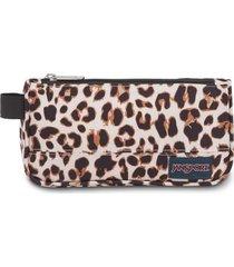cartuchera jansport medium accessory pouch leopardo