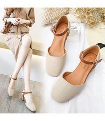 fashion closed toe buckle sandals women thick sandalias sandalias