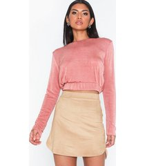 nly one suede skirt minikjolar