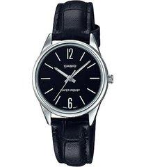 reloj casio ltp_v005l_1b negro cuero