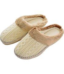 pantofole maglia (beige) - euronova