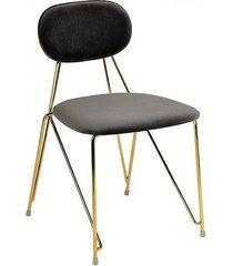 krzesło welurowe molia szare