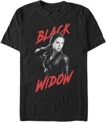 marvel men's avengers infinity war dark painted black widow short sleeve t-shirt