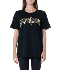 dondup capricorn embellished black cotton t-shirt