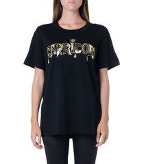 dondup capricorn embellished black cotton t-shirt