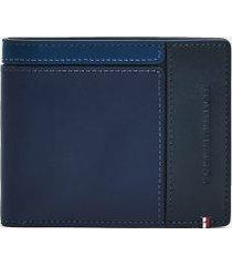 tommy hilfiger logo mini credit card wallet desert sky -