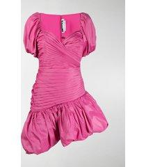 rotate dionne ruched asymmetric dress
