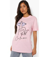 oversized gingham t-shirt, light pink