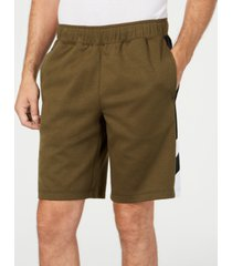 id ideology men's striped-side shorts, created for macy's