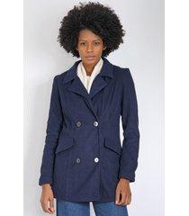 casaco queens paris alfaiataria azul-marinho