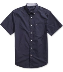 tommy hilfiger adaptive men's maxwell shirt with magnetic buttons