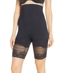 women's natori plush high waist shaping shorts, size x-large - black