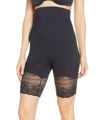 natori plush high waist shaping shorts, size xx-large in black at nordstrom