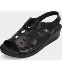 sandalia  negro romulo