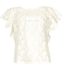 broderie top loryn  wit