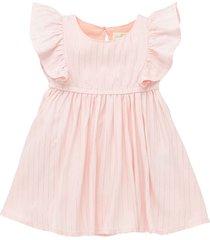 vestido manga corta rosado  offcorss