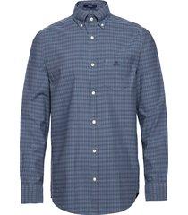 d1. herringb tattersall reg bd overhemd casual blauw gant