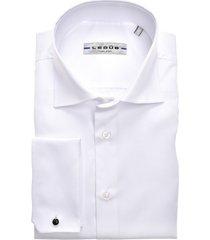 smokingoverhemd ledub wit slim fit strijkvrij